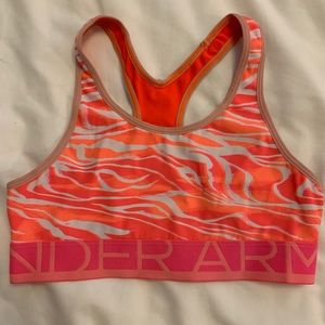 Coral under Armour sports bra